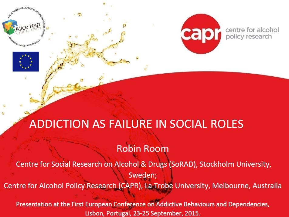 R Room addiction social role failure pic